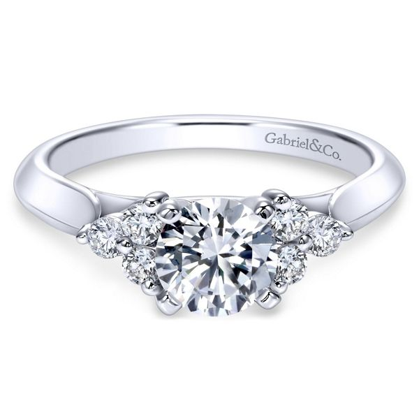 Gabriel & Co. 14k White Gold Diamond Engagement Ring Setting 1/5 ct. tw.