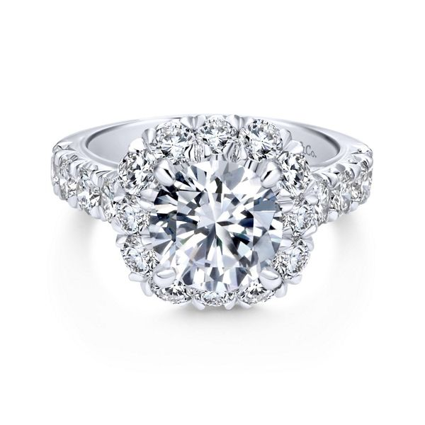 Gabriel & Co. 14k White Gold Diamond Engagement Ring Setting 1 3/4 ct. tw.