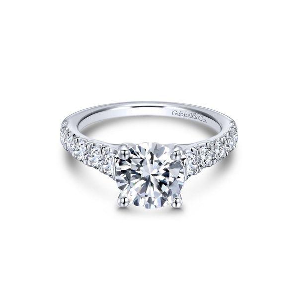 Gabriel & Co. 14k White Gold Diamond Engagement Ring Setting 3/4 ct. tw.