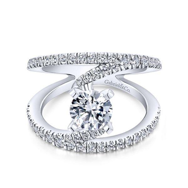 Gabriel & Co. 14k White Gold Diamond Engagement Ring Setting 5/8 ct. tw.