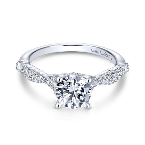 Gabriel & Co. 14k White Gold Diamond Engagement Ring Setting 1/4 ct. tw.
