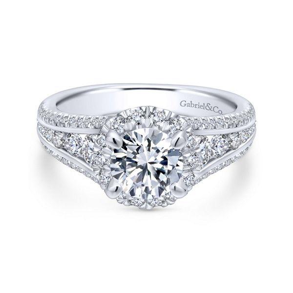 Gabriel & Co. 14k White Gold Diamond Engagement Ring Setting 1 ct. tw.
