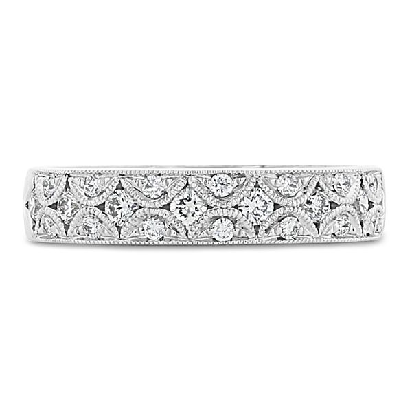 Divine 18k White Gold Diamond Wedding Band 1/3 ct. tw.