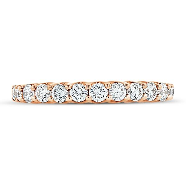Divine 18k Rose Gold Diamond Wedding Band 1/2 ct. tw.