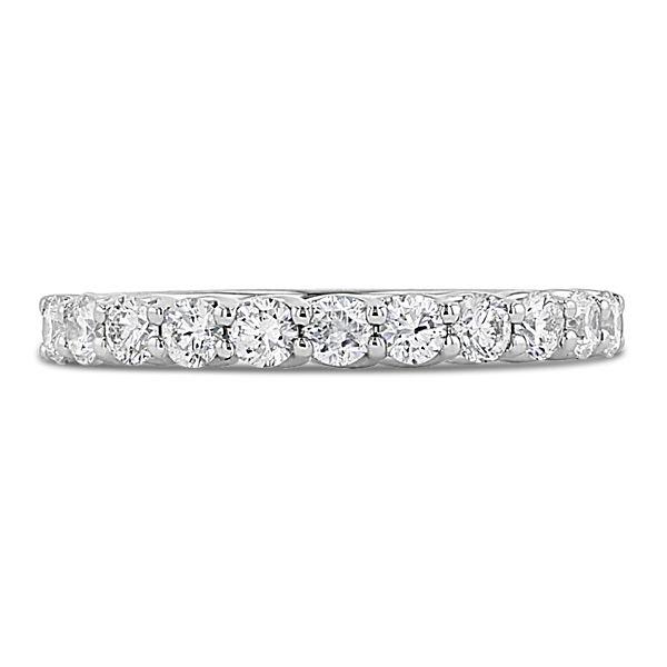 Divine 18k White Gold Diamond Wedding Band 1/2 ct. tw.