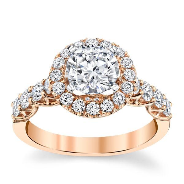 Divine 18k Rose and 18k White Gold Diamond Engagement Ring Setting 3/4 ct. tw.