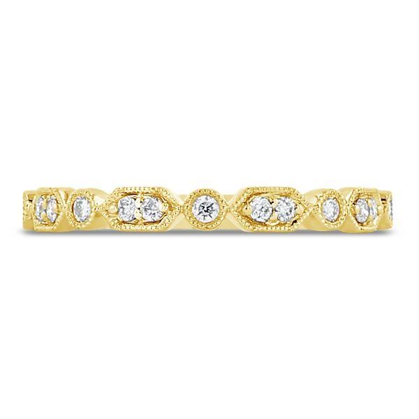 14k Yellow Gold Diamond Wedding Band 1/8 ct. tw.