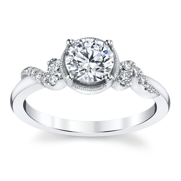 Kirk Kara 14k White Gold Diamond Engagement Ring Setting 1/10 ct. tw.