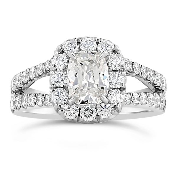 Henri Daussi 18k White Gold Diamond Engagement Ring 2 ct. tw.