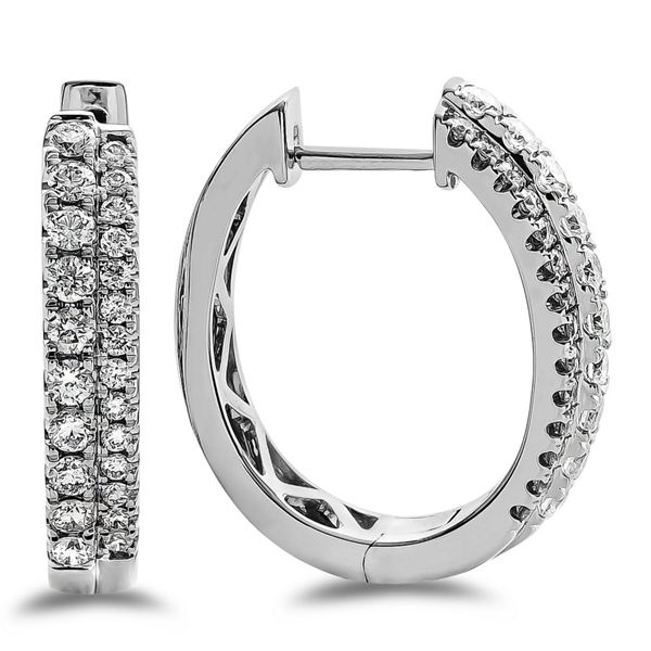 14k White Gold Earrings 3/4 ct. tw.