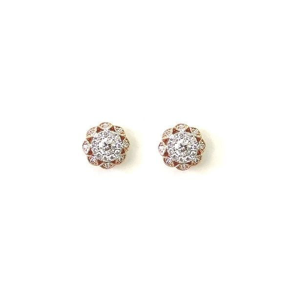 14k Yellow Gold and 14k White Earrings 1 ct. tw.