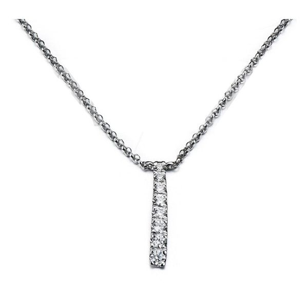 14k White Gold Necklace 1/10 ct. tw.
