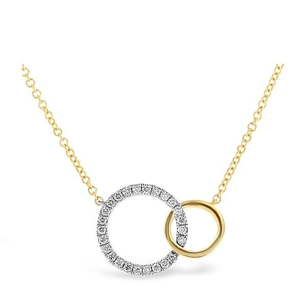 14k Yellow Gold and 14k White Necklace 1/8 ct. tw.