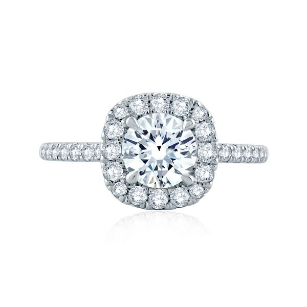 A. Jaffe 14k White Gold Diamond Engagement Ring Setting 1/2 ct. tw.