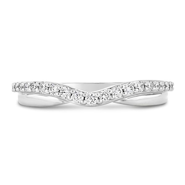 A. Jaffe 14k White Gold Diamond Wedding Band 1/4 ct. tw.