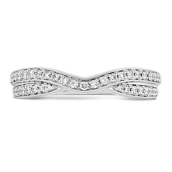 A. Jaffe 14k White Gold Diamond Wedding Band 1/5 ct. tw.