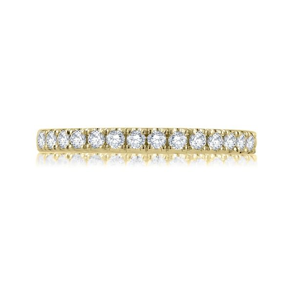 A. Jaffe 14k Yellow Gold Diamond Wedding Band 1/6 ct. tw.