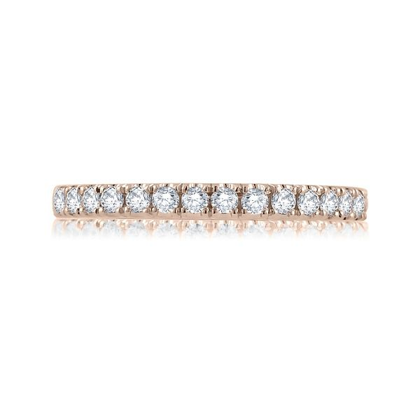 A. Jaffe 14k Rose Gold Diamond Wedding Band 1/6 ct. tw.