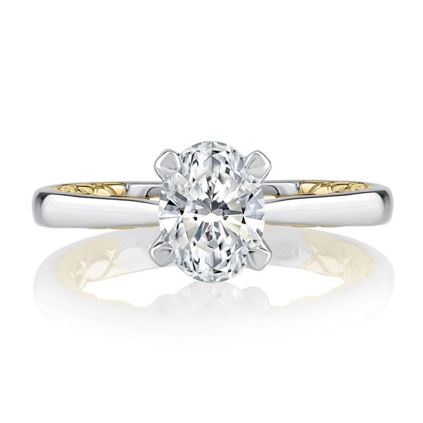 A. Jaffe 14k White Gold and 14k Yellow Gold Diamond Engagement Ring Setting .05 ct. tw.