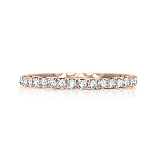 A. Jaffe 14k Rose Gold Diamond Wedding Band 1/3 ct. tw.