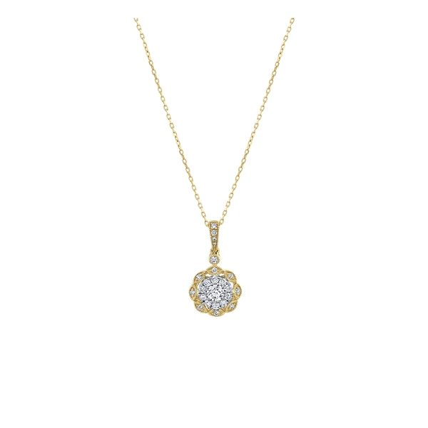 14k Yellow Gold and 14k White Pendant 5/8 ct. tw.