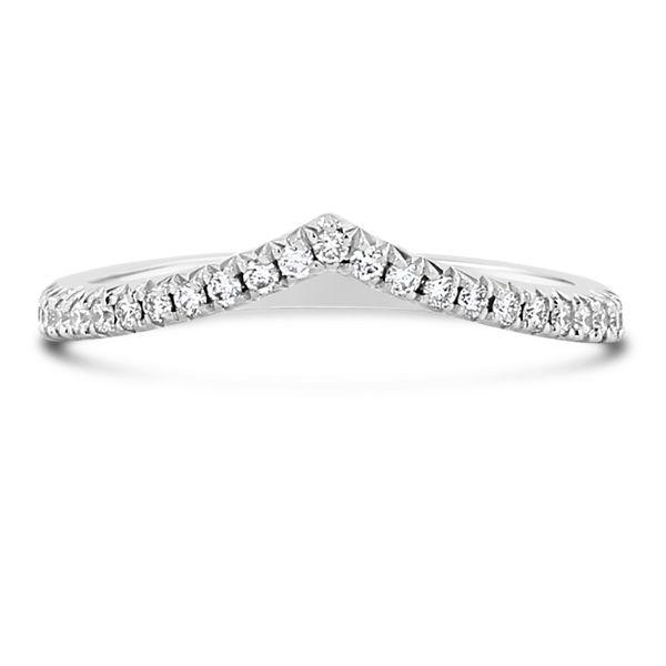 Henri Daussi 18k White Gold Diamond Wedding Band 1/5 ct. tw.