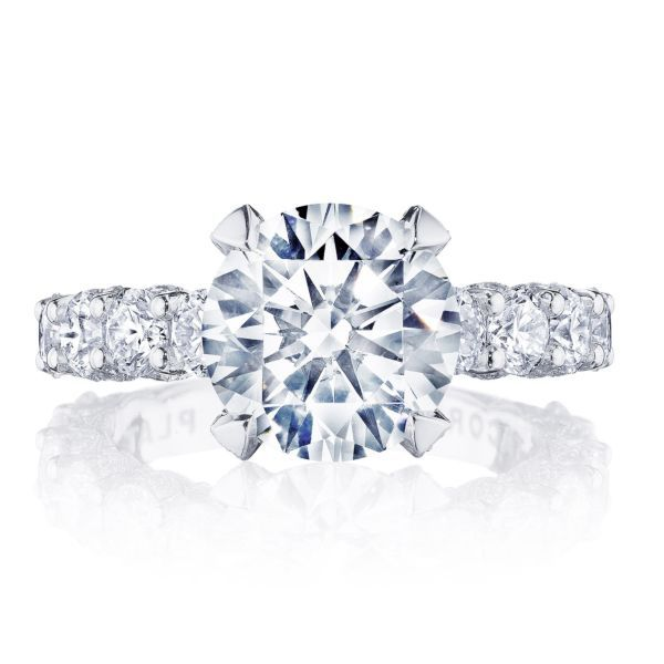 Tacori Platinum Diamond Engagement Ring Setting 2 ct. tw.