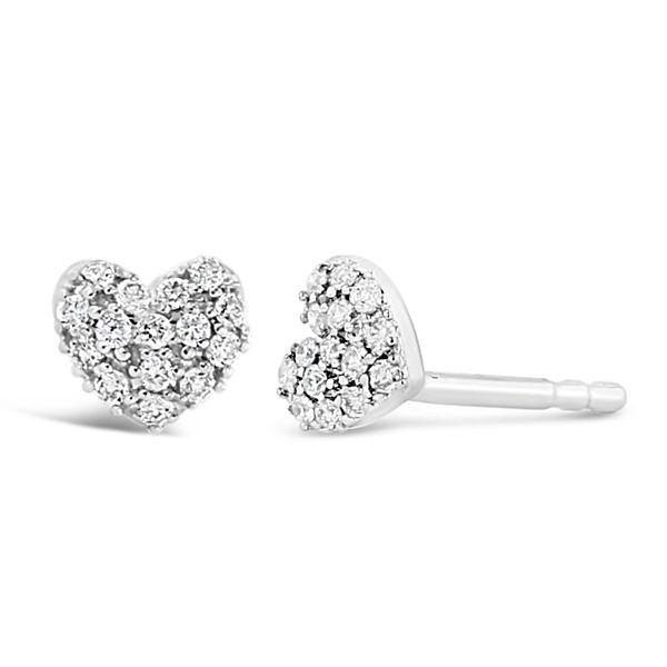 14k White Gold Earrings 1/10 ct. tw.