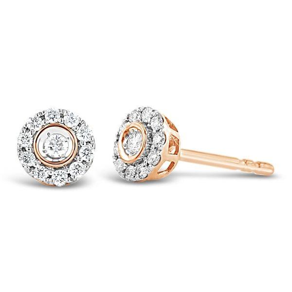 14k Rose Gold Earrings 1/6 ct. tw.
