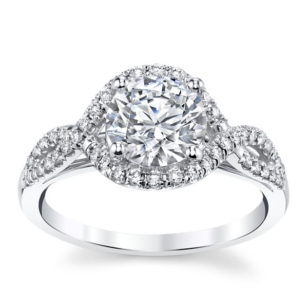 Coast Diamond 14k White Gold Diamond Engagement Ring Setting 1/4 ct. tw.