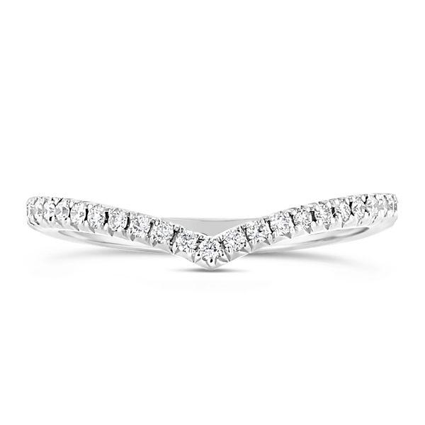 Henri Daussi 14k White Gold Diamond Wedding Band 1/5 ct. tw.