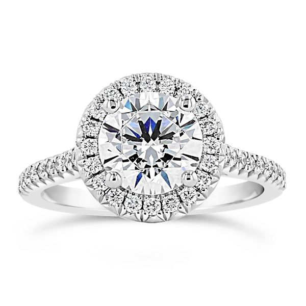 Henri Daussi Platinum Diamond Engagement Ring Setting 1/3 ct. tw.