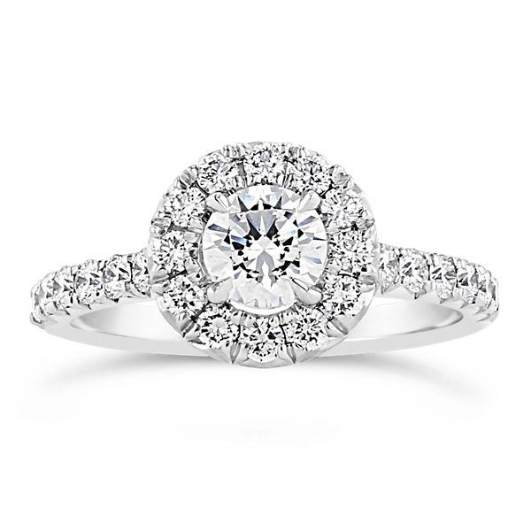 Henri Daussi 18k White Gold Diamond Engagement Ring Setting 3/4 ct. tw.