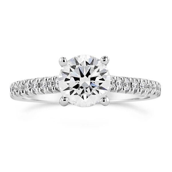 Henri Daussi 14k White Gold Diamond Engagement Ring Setting 1/5 ct. tw.