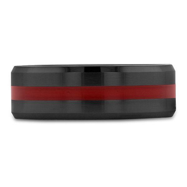 Black Ceramic Carbide 8 mm Wedding Band