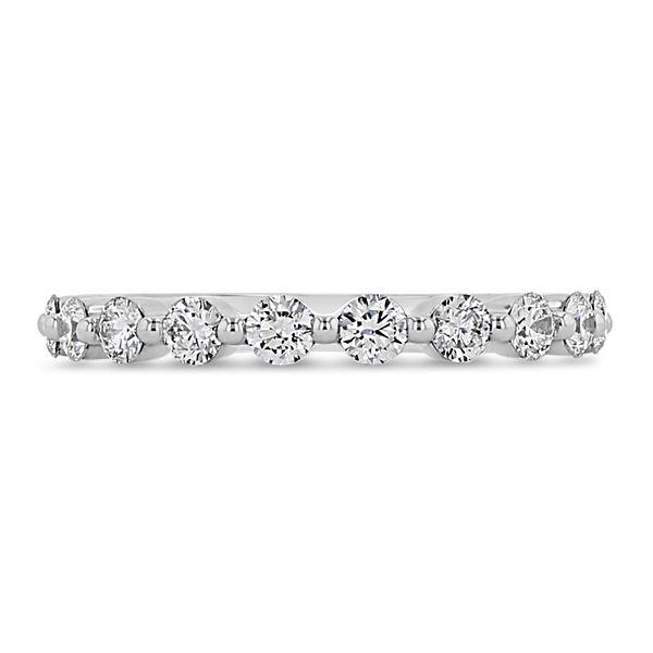 Henri Daussi 14k White Gold Diamond Wedding Band 3/4 ct. tw.