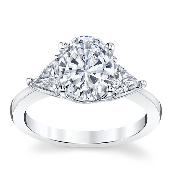 RB Signature Platinum Diamond Engagement Ring Setting 1/2 ct. tw.