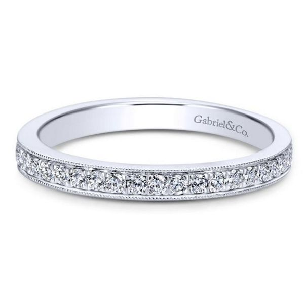 Gabriel & Co. 14k White Gold Diamond Wedding Band 1/5 ct. tw.