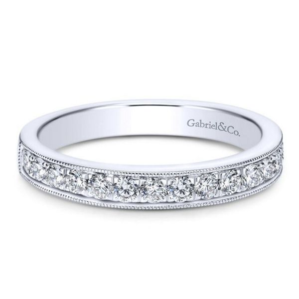 Gabriel & Co. 14k White Gold Diamond Wedding Band 3/8 ct. tw.