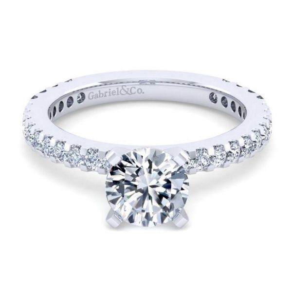 Gabriel & Co. 14k White Gold Diamond Engagement Ring Setting 1/3 ct. tw.