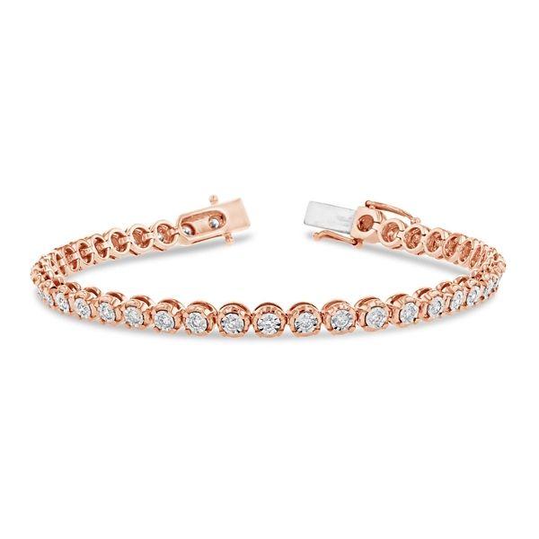 14k Rose and 14k White Gold Bracelet 1 ct. tw.