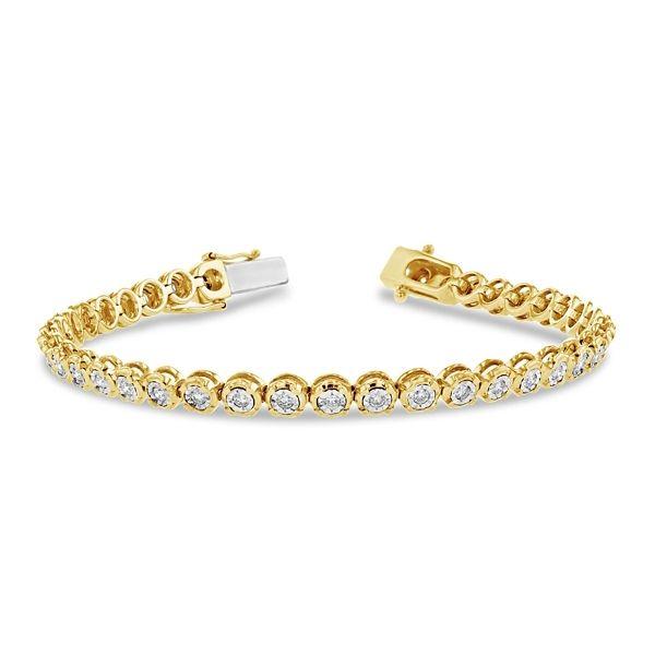 14k Yellow Gold and 14k White Bracelet 1 ct. tw.