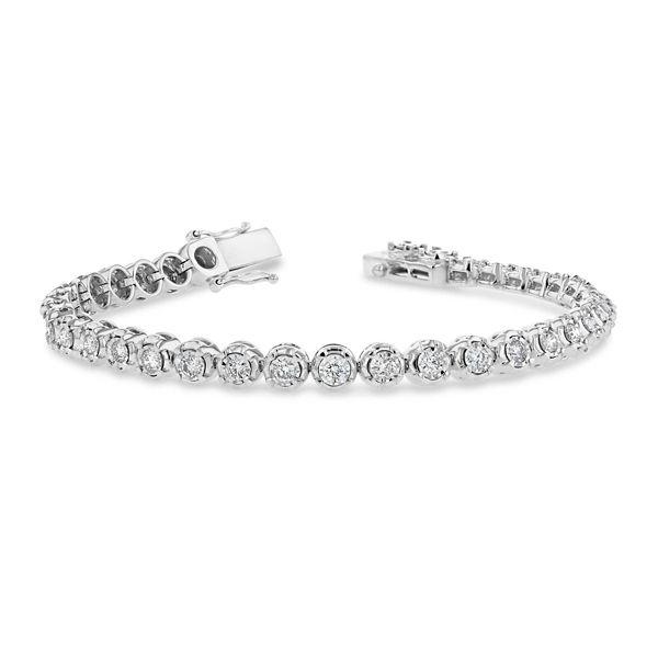 14k White Gold Bracelet 2 ct. tw.