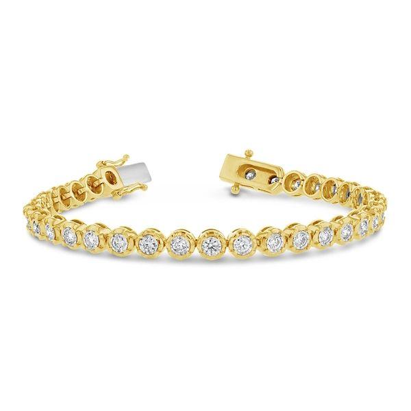 14k Yellow Gold and 14k White Bracelet 2 ct. tw.