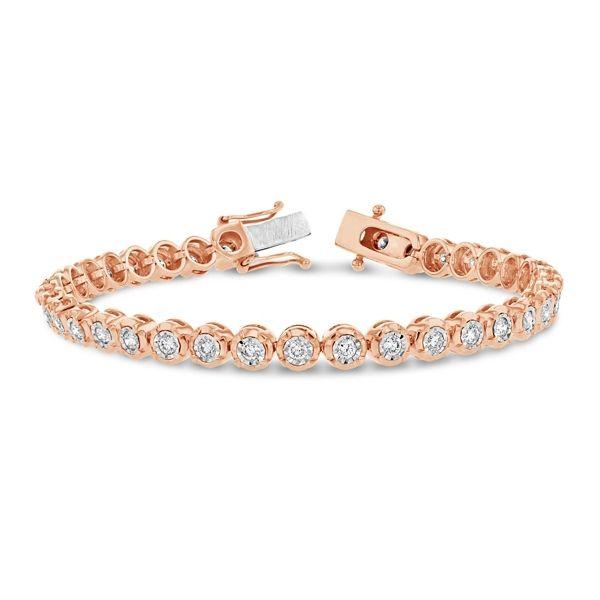 14k Rose and 14k White Gold Bracelet 2 ct. tw.