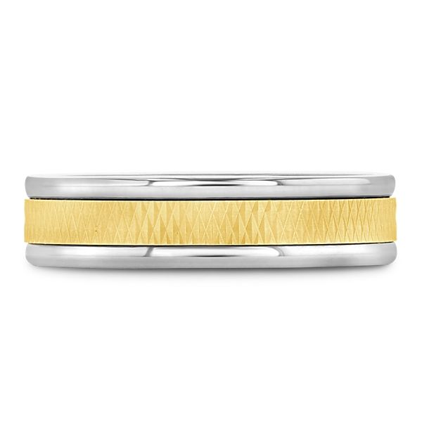 Triton Tungsten and 14k Yellow Gold 6 mm Wedding Band