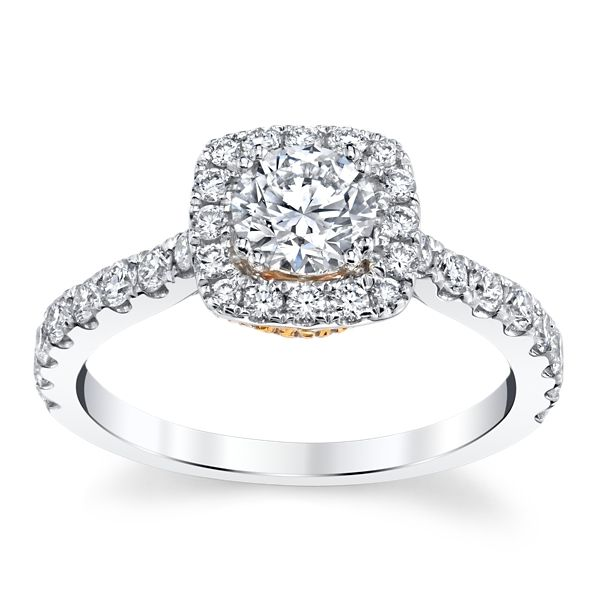 Eternalle Lab-Grown 14k White Gold and 14k Rose Gold Diamond Engagement Ring 1 1/4 ct. tw.