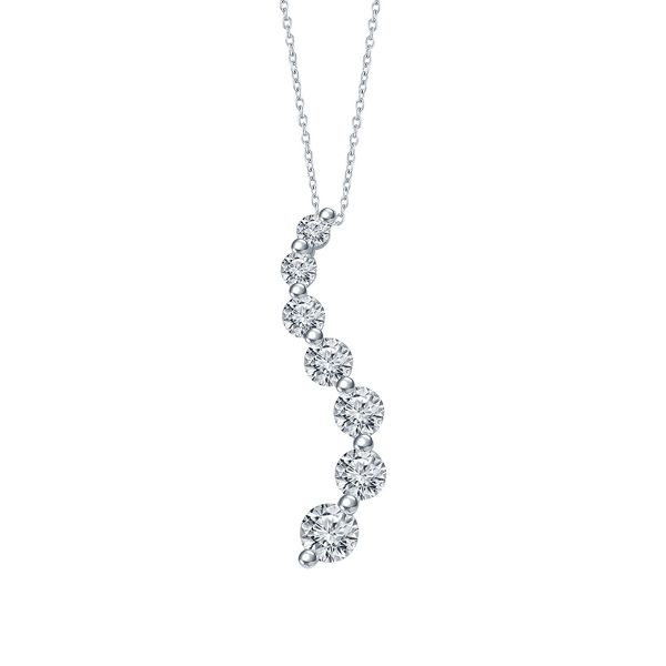 Eternalle Lab-Grown 14k White Gold Pendant 1/3 ct. tw.