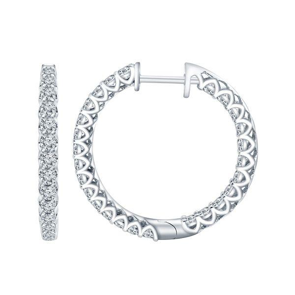 Eternalle Lab-Grown 14k White Gold Earrings 2 ct. tw.
