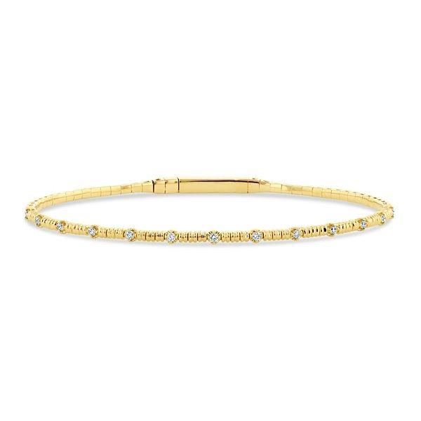 14k Yellow Gold and Titanium Bracelet 1/5 ct. tw.